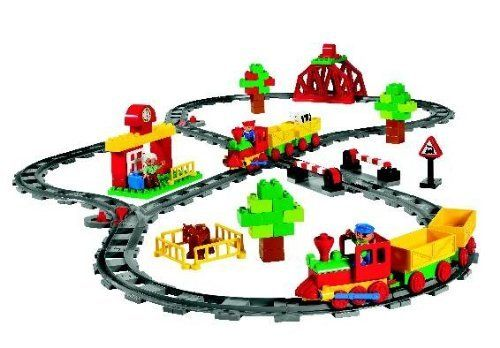 LEGO Education DUPLO Push Train Set 779212 (129 Pieces) by LEGO Education. Save 8 Off!. $85.79. The LEGO Education 779212 129-piece DUPLO push train set includes themed elements for railway systems to help children two years and older explore movement and transportation while developing fine motor skills. The track can be configured many different ways, encouraging children to use imagination and creativity while building railways. The set supports a group of four students, and co...