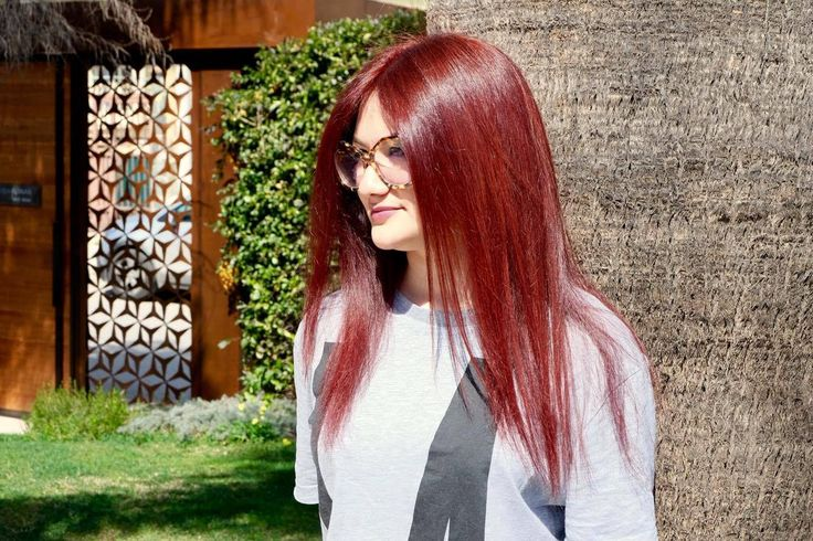 red hair Andrea Furnari salòn cheveux