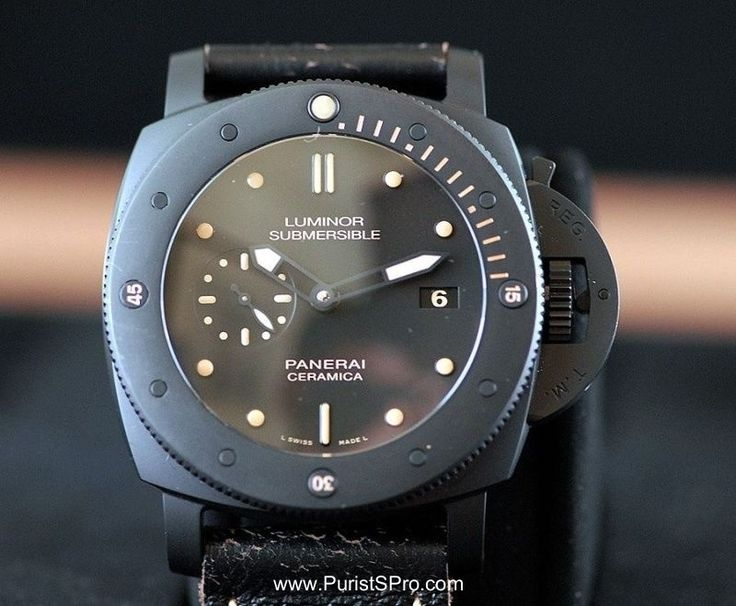 PuristSPro - The Panerai PAM508 Luminor Submersible 1950 3 Days Automatic Ceramica Submersible from SIHH 2013 is an evolution of the PAM305 Submersible. I posted an ext