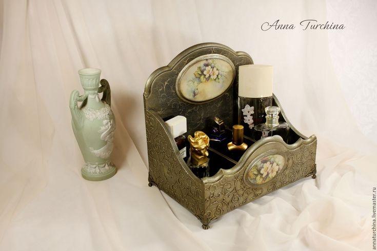 "Купить Подставка-короб ""Аромат ежевики"" - серебряный, короб для хранения, короб-подставка, для кухни, для духов"