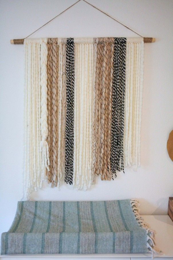 DIY Boho Yarn Wall Art on www.littlemissmomma.com