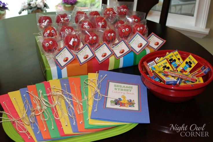 Sesame Street Birthday ~ Favors | Seshalyn's Party Ideas