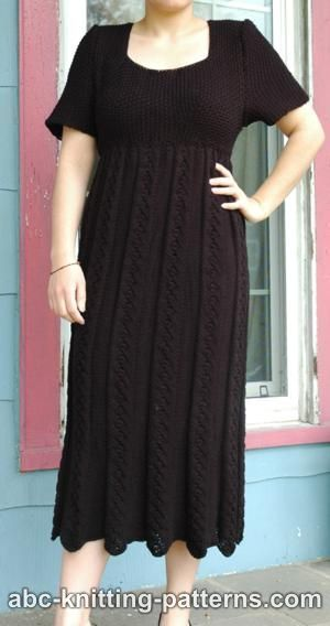Moonlight Dress Knitting Pattern : 259 best images about Knitted Womens clothing on Pinterest Cable, Drop...