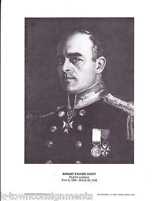 Robert Falcon Scott English Explorer Vintage Portrait Gallery Poster Print