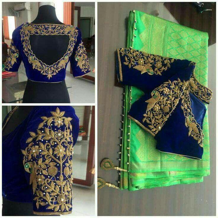 Bridal Inspirations.... To order, pls whatsapp on +91 94929 91857 #Designerblouses #maggamworks #Blouses #Bridalwear #wedding #workblouses #southindianwedding #ethnichyd