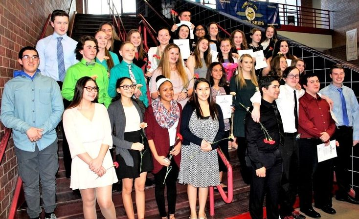 WAREHAM – Thirty-three students at Wareham High School earned admission Thursday night into the school's chapter of the National Honor Inducted into the NHS on Thursday were Makayla Bumpus, Renneanna Dillen, Nicholas Dix, Kevin England, McKenna Fitzgerald, Joshua Gallagher, Abigail Glidden, Emily Kauranen, Cameron Keith, Ryan McSherry, Alana Nicoletti, Ethan Osley, Allisha Papadakis, Mini Patal, Sheridyn Pinkham, Alyssa Perez, Jillian Rawding, Jamie Read and Paige Strawn.