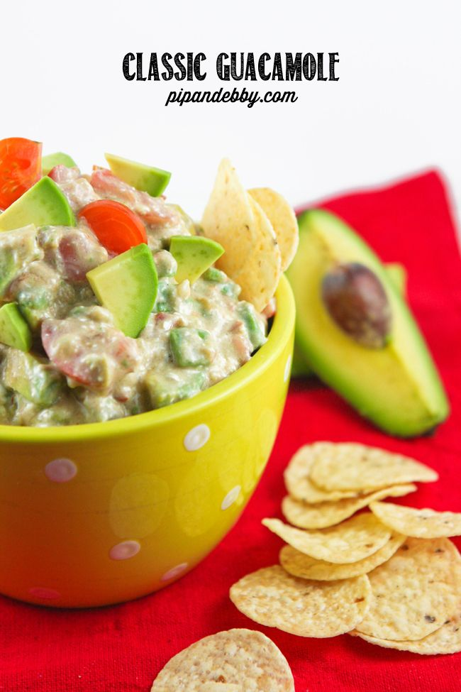 Classic Guacamole | pipandebby.com: Going To Guacamole Recipe, Food ...