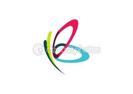 Papillon de logo de beauté, spa détente soins mode de vie, ailes abstraites, lettre B symbole icône design vecteur