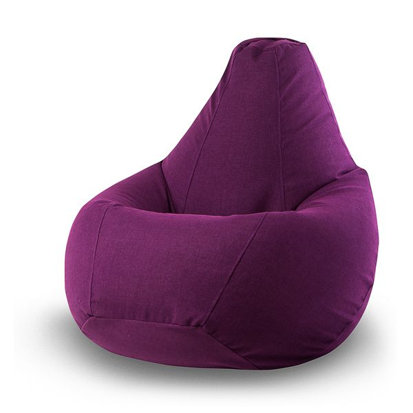 Кресло-мешок Vella Violet XL (фиолетовый) Бескаркасное кресло-мешок Vella-Violet отличается большим размером и насыщенным, благородным цветом. Благодаря этому сочетанию оно легко впишется в любой, даже самый строгий интерьер. Свойства ткани, из которой изготовлен чехол кресла-мешка, позволяют использовать его как дома или в офисе, так и на даче.