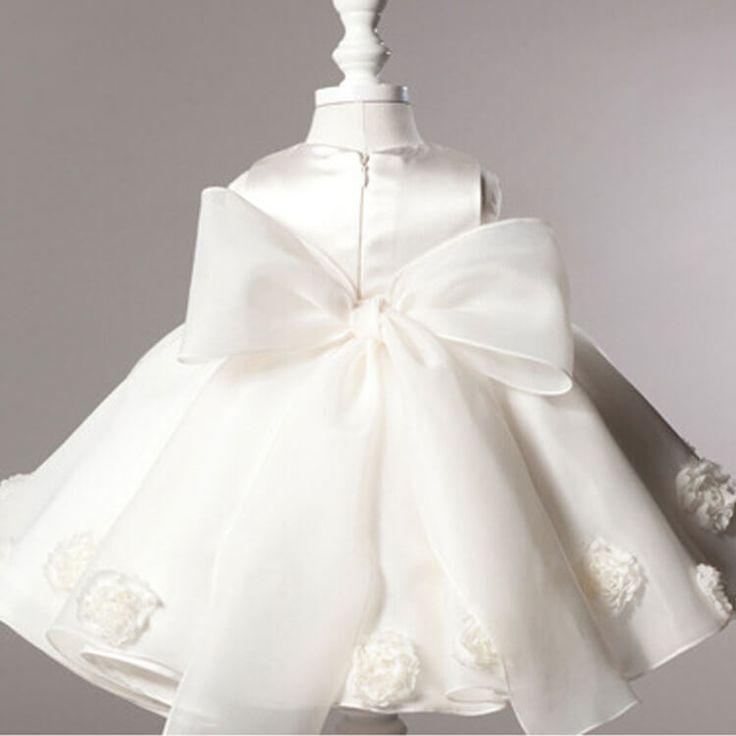 3D Rose Princess Dress - Itty Bitty Boutique Baby Shop back - little girls dress
