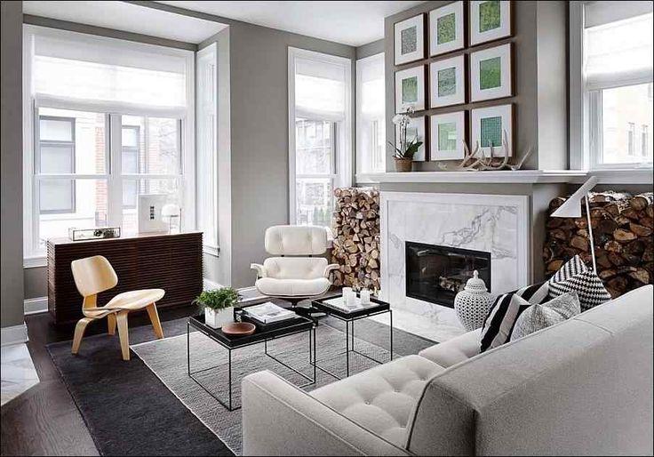 Нейтральные тона в современной чикагской квартире