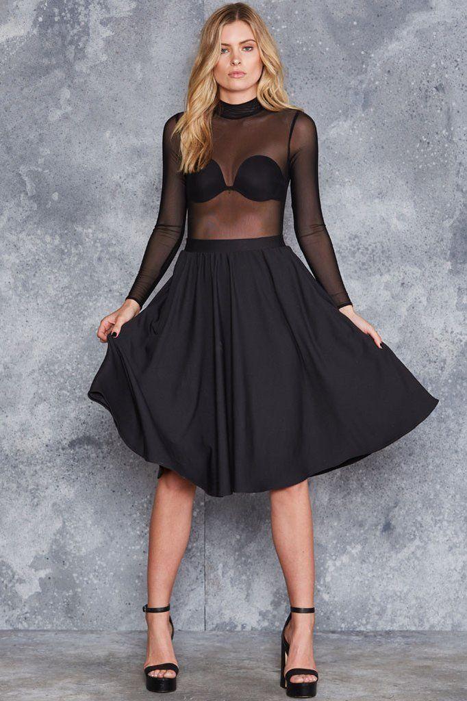 Class Act Pocket Midi Skirt ($100 AUD) by BlackMilk Clothing