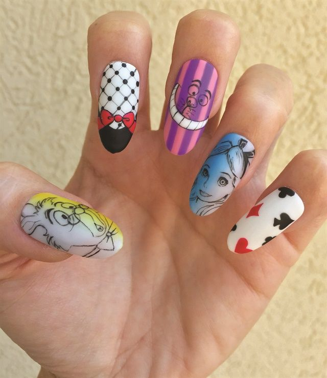 Salon Modded Nails Award Winning Nail Art Made Wearable In 2018 Pop Culture Pinterest And Disney