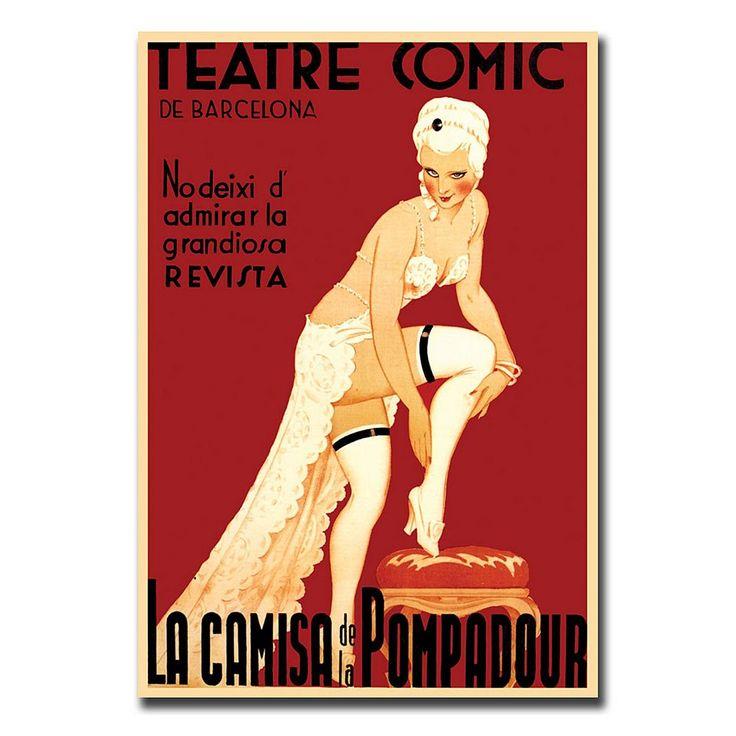18'' x 24'' ''Teatre Comic de Barcelona'' Canvas Wall Art, Multicolor