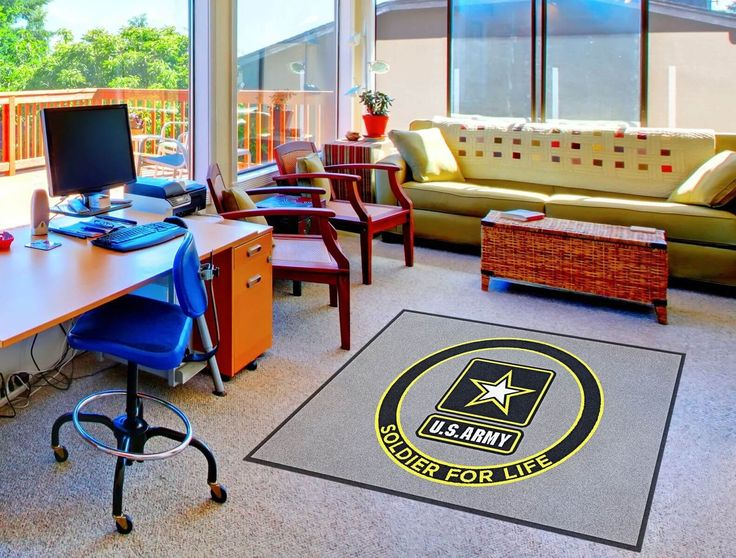 Great Buy US Army Soldier For Life Logo Rug Online | Rug Rats