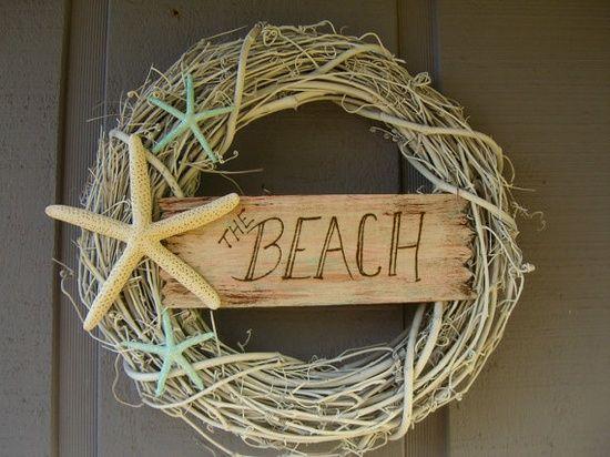 Shabby Chic Beach Decor | For the love of WREATHS / Beach House Decor Shabby Chic Starfish