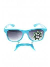 Horseshoe Mustache Sunglasses in Blue  $10.00    #lylifjewelry
