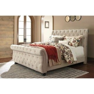 Shop for Signature Design by Ashley Willenburg Linen California King Bed. Get free shipping at Overstock.com - Your Online Furniture Outlet Store! Get 5% in rewards with Club O! - 19785943
