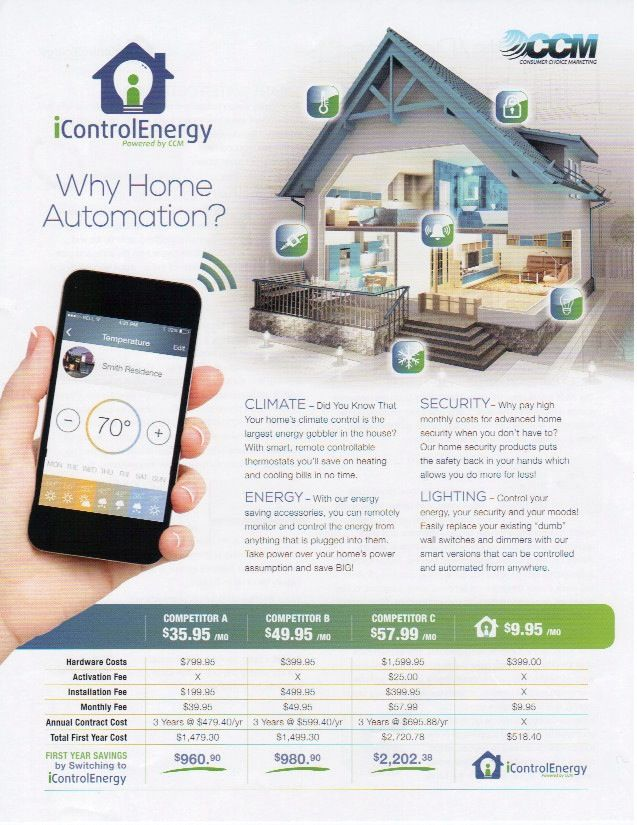 Info on iControl Energy Home Automation. Check out: icontrolenergy.com/gregmauter