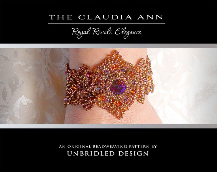 234 best my beading tutorials patterns images on pinterest beading the claudia ann beaded lace bracelet pdf por unbridleddesign fandeluxe Images