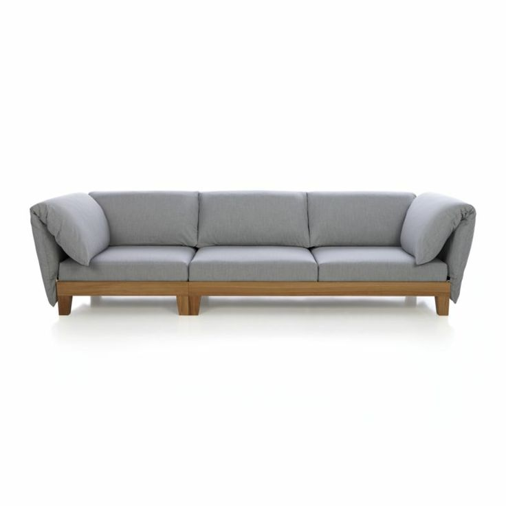 party sofa with cushion arms crate and barrel
