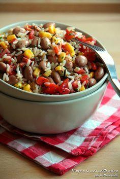 Insalata di riso messicana.   Mirepoix: la cucina delle verdure.