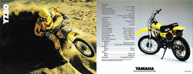 1980 Yamaha YZ80 - just a kid having fun not jumping a triple or on a track.