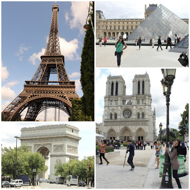 Top four sites to see in Paris.
