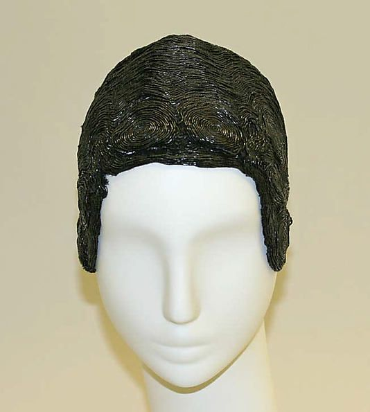 skullcap, beading on cotton base, ca 1925, MMA collection