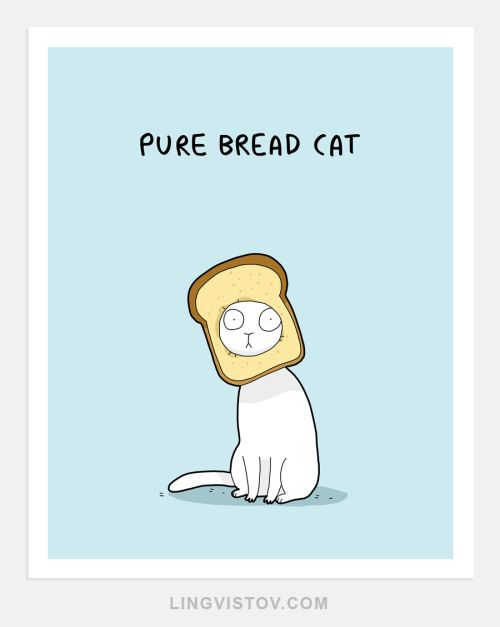 Our artist Landysh loves cat puns… sometimes too much Get this print in our online shop                                                                                                                                                                                 More