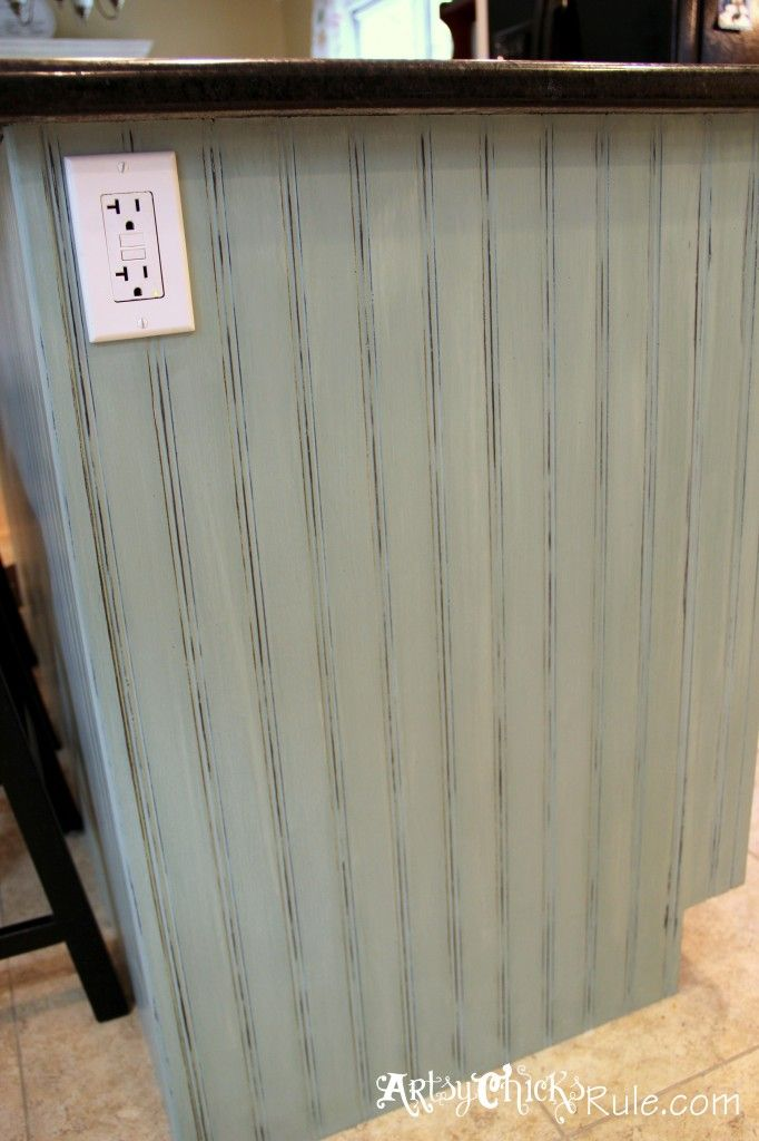 Kitchen Island Makeover Duck Egg Blue Chalk Paint In
