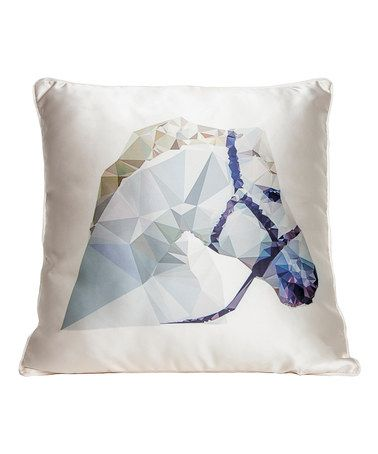 cream geometric horse throw pillow zulilyfinds - Horses Head Pillow