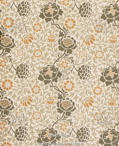 Grafton wallpaper, by William Morris. England, 1883