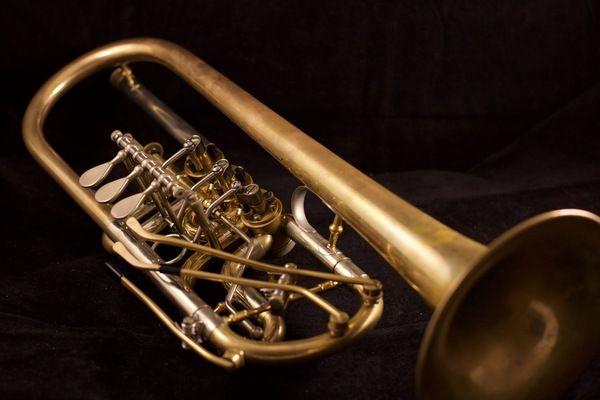 Pre-Owned Schagerl  Horsdorf Heavy C Trumpet in raw Brass!