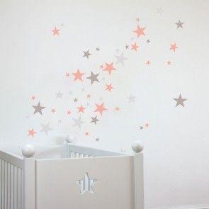 Sterne Wandtattoos für das Babyzimmer! Schon ein Klassiker geworden sind die Sterne an der Zimmerwand über dem Bettchen. Diese hier sind sehr einfac…