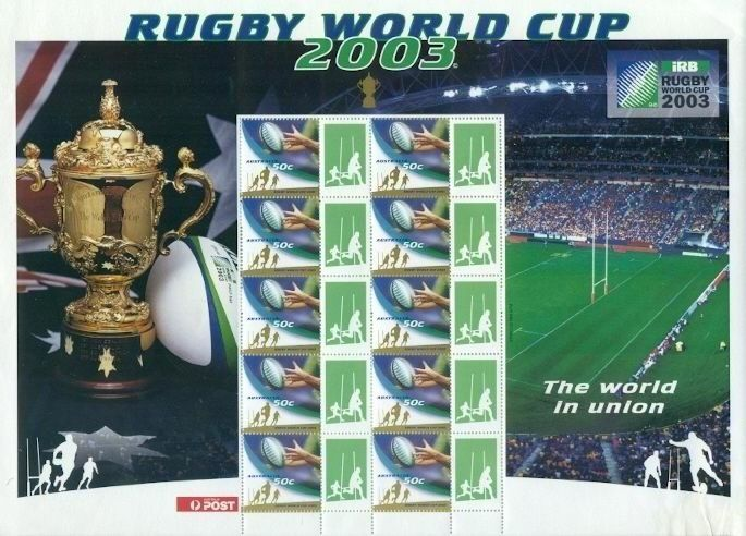 AUSTRALIA RUGBY WORLD CUP -2003 COMPLETE STAMP SHEET
