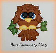 craftecafe Минди сова на открытом воздухе premade шитье по бумаге для страницы для скрапбукинга альбом