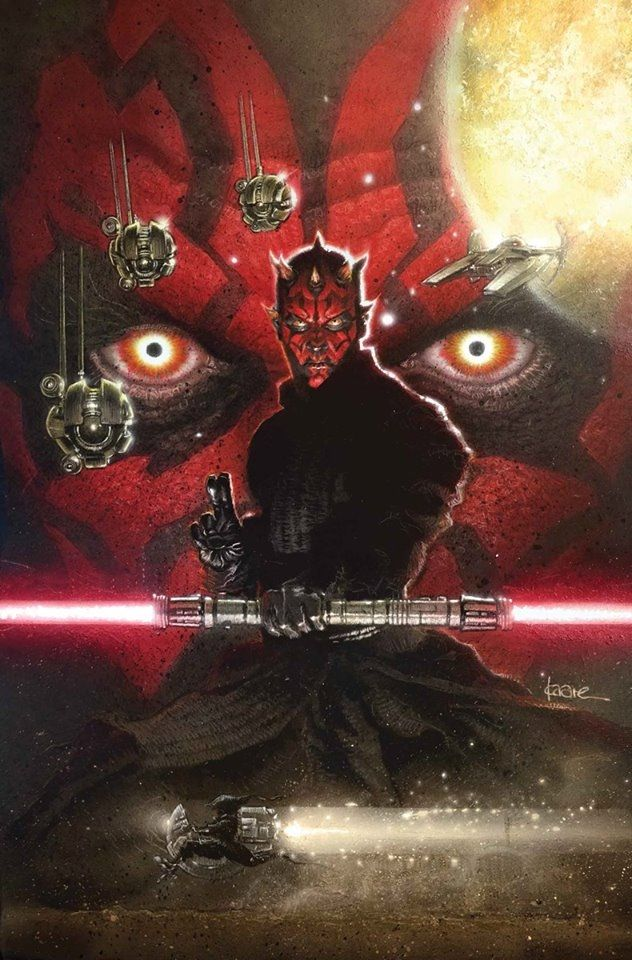 Darth Maul # 5 Cover by Kaare Andrews - W.B.
