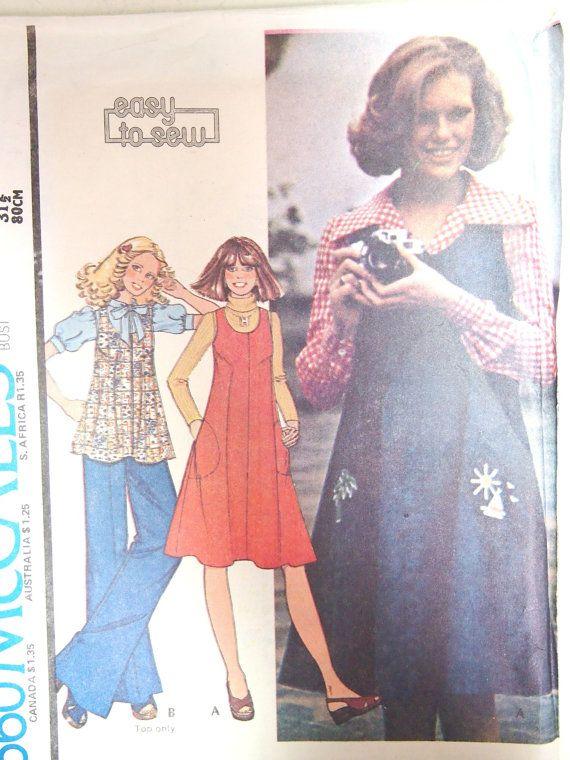 Vintage 1970s Style Misses Jumper or Top by VintageTwistsPattern, $7.00