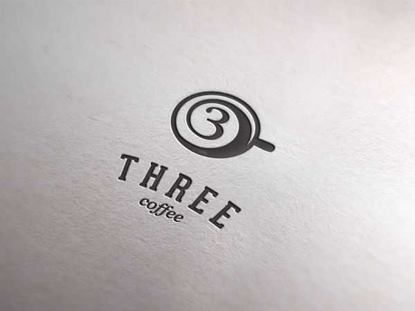 Usually when people think of coffee, most of them come up with an image of white coffe cup or coffee bean. This logo, however, shows the top of a coffee cup, and cleverly connects their brand and the logo with a shape of '3'.                                                                                                                                                                                 More