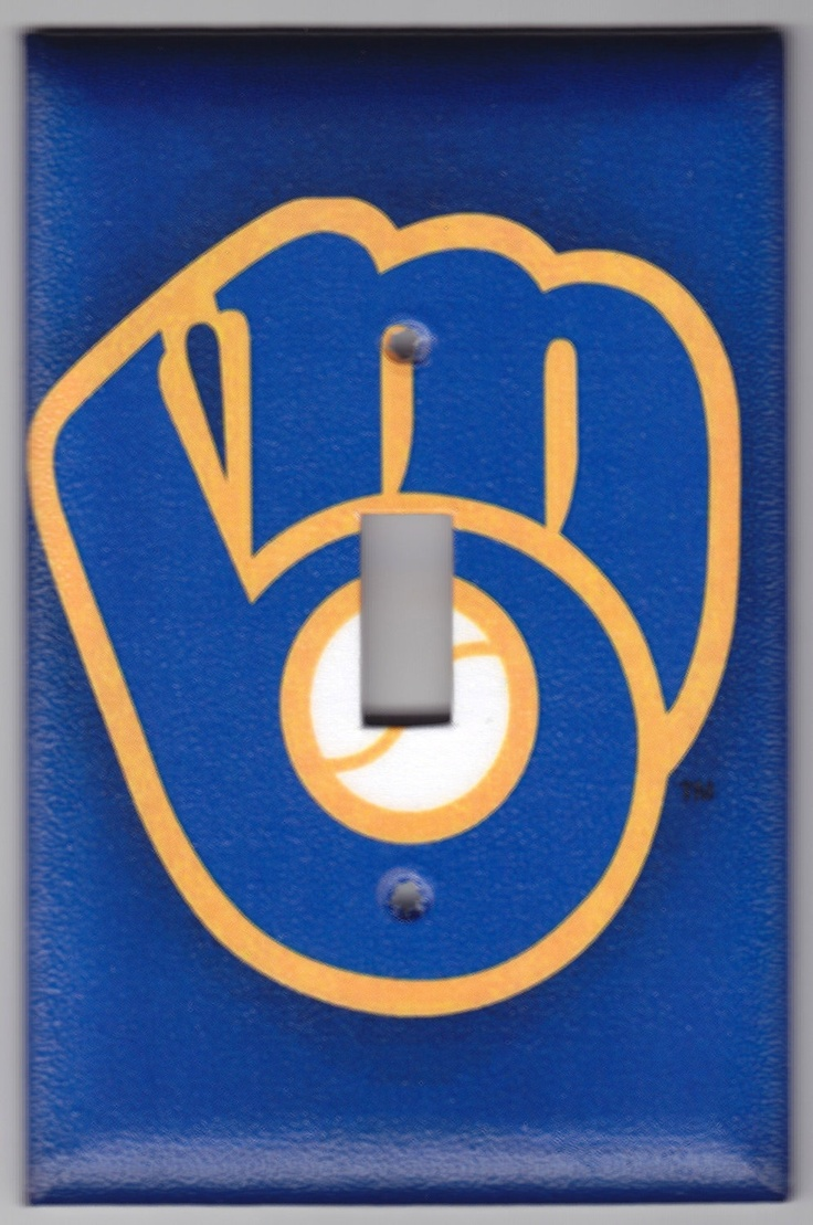 Milwaukee Brewers Retro Logo Switchplate by SpottedDogStudios, $8.00