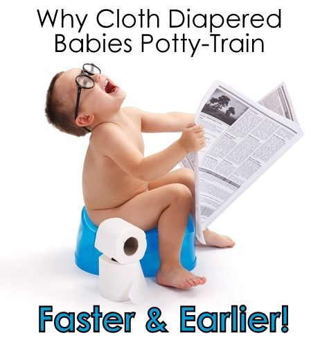 Why Cloth Diapered Babies Potty-Train Faster & Earlier