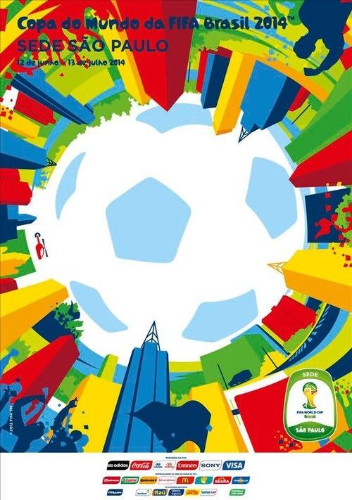 Poster Copa del Mundo Brasil FIFA 2014 - De las ciudades: Sao Paulo