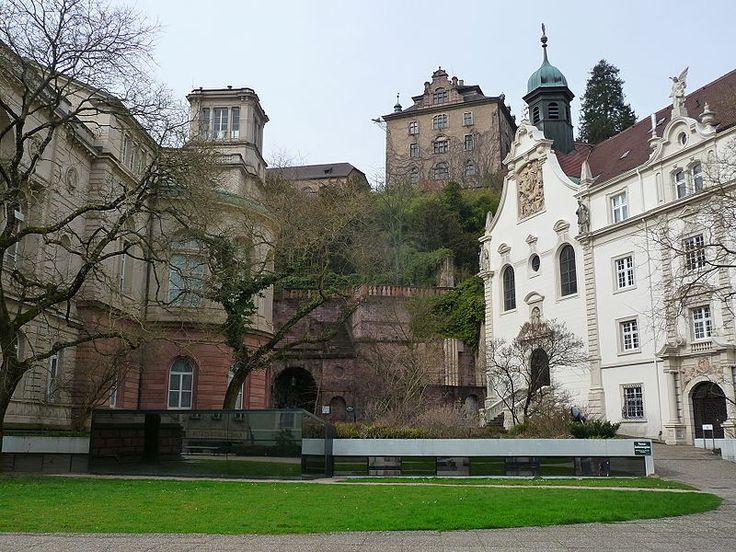 Baden-Baden, Germany [shown: Friedrichsbad Neues Schloß und Kirche der Klosterschule vom Heiligen Grab in Baden-Baden