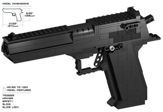 Various Lego Gun Replicas