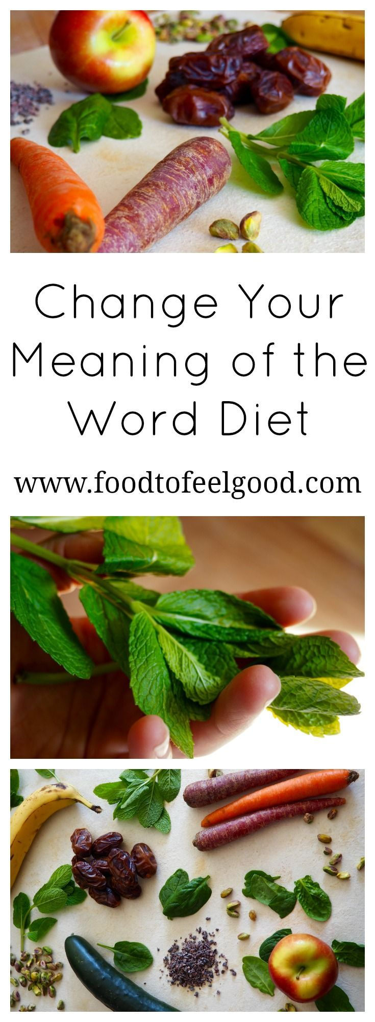 """What comes to mind when you hear the word diet?  Most of us think of deprivation and weight-loss, but that's really just the definition of a fad diet.  Click """"Visit"""" to read my post about how to change your meaning of the word diet, and embrace your own food philosophy and a healthy way of eating."""