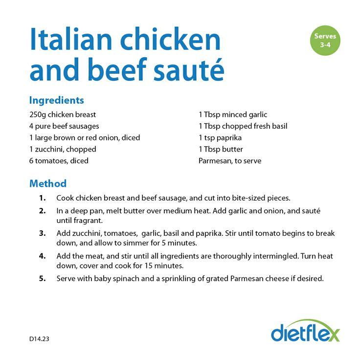 Italian chicken and beef saute #healthyrecipes #dietflex