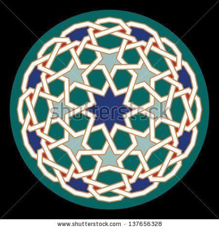 Geometric Ornament. Traditional Islamic Design. Mosque decoration element.