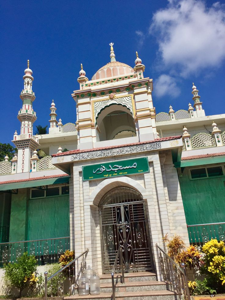 Entrance of stunning mosque in Daman