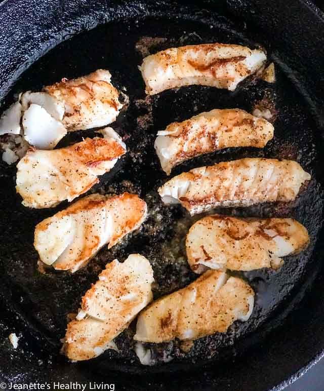 Pan Roasted Cod Fish Tacos Recipe Roasted Cod Cod Fish Tacos Fish Recipes Pan